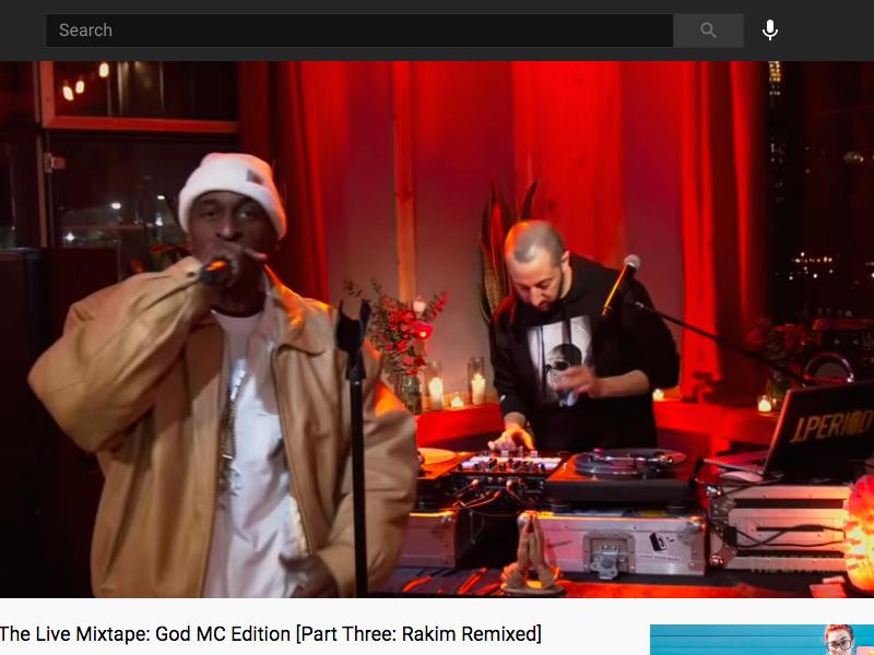 Rakim & J.PERIOD Present The Live Mixtape: God MC Edition [Part Three: Rakim Remixed]