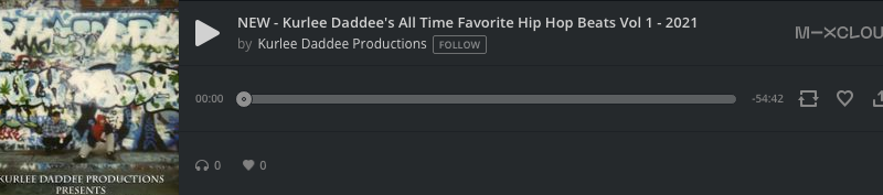 NEW – Kurlee Daddee's All Time Favorite Hip Hop Beats Vol 1 – 2021