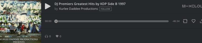 DJ Premier's Greatest Hits by KDP Side B 1997 by Kurlee Daddee Productions